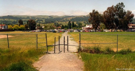 Gate on the path to California High School.