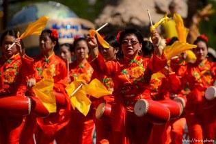 (Trent Nelson | The Salt Lake Tribune) The Days of '47 Parade in Salt Lake City, Tuesday July 24, 2018. Utah Chinese Association.