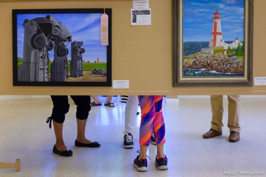 (Trent Nelson | The Salt Lake Tribune) Artwork in the Fine Arts display at the Utah State Fair, Sunday Sept. 9, 2018.