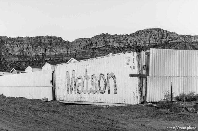 Trent Nelson | The Salt Lake Tribune wall around bishop's storehouse, Thursday February 25, 2016.