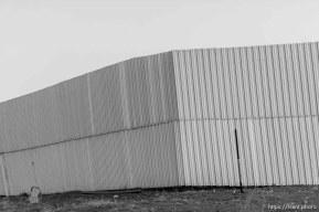 Trent Nelson | The Salt Lake Tribune wall around bishop's storehouse, Thursday February 25, 2016.