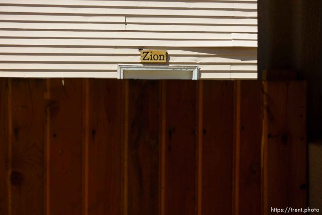 Trent Nelson | The Salt Lake Tribune zion sign, Monday May 1, 2017.