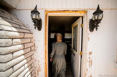 Trent Nelson | The Salt Lake Tribune LeAnne Johnson and her children relocated to a Cedar City home after, they say, being evicted from UEP Trust homes in Hildale three times. Wednesday May 24, 2017.