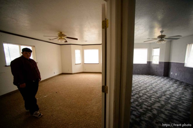 Trent Nelson | The Salt Lake Tribune Marvin Darger in the home he lived in, just before the UEP evicted his family from property at 555 N Lauritzen Ave, Colorado City, AZ, Wednesday May 10, 2017. This is his former bedroom, room on the right was used for homeschooling.