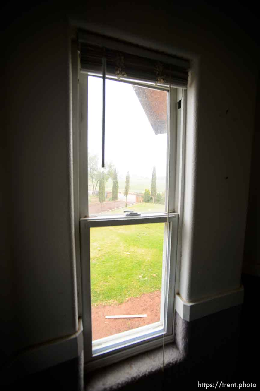 Trent Nelson   The Salt Lake Tribune view out window in home at 555 N Lauritzen Ave, Colorado City, AZ, Wednesday May 10, 2017. UEP evicted this property shortly after photo was taken.