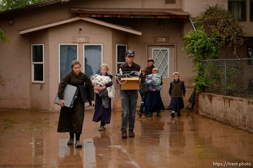 Trent Nelson | The Salt Lake Tribune UEP eviction of property at 345 N Richard St, Colorado City, AZ, Wednesday May 10, 2017.
