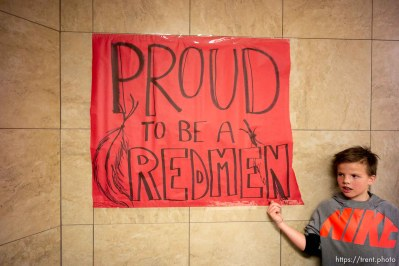 (Trent Nelson | The Salt Lake Tribune) Cedar High School is considering a change in the name of its mascot, The Redmen, Friday Jan. 11, 2019.
