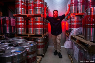 chris detrick, opening of level crossing brewery Saturday March 30, 2019.