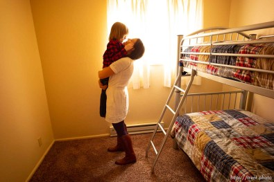 (Trent Nelson   The Salt Lake Tribune) Michelle Densley and her son Edison at her apartment in Salt Lake County on Monday April 8, 2019.