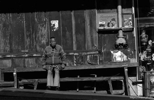 Chinatown vendor, 1987.