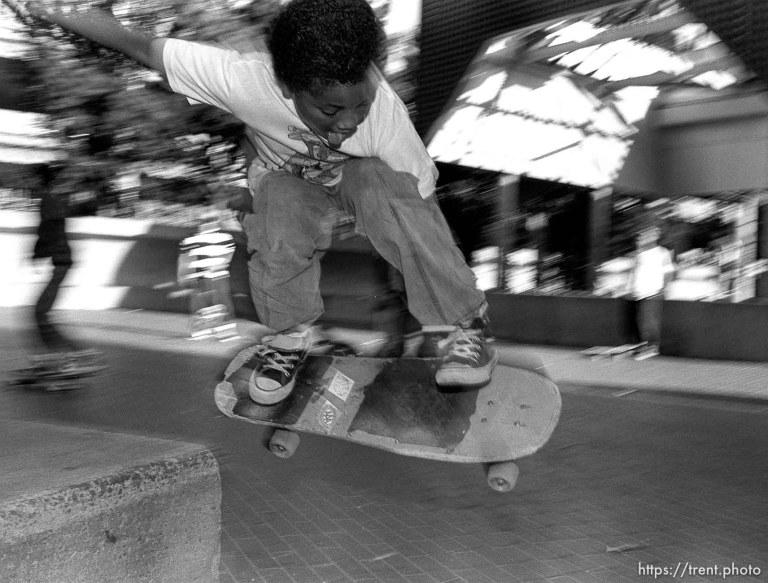 Skateboarding Justin Herman Plaza