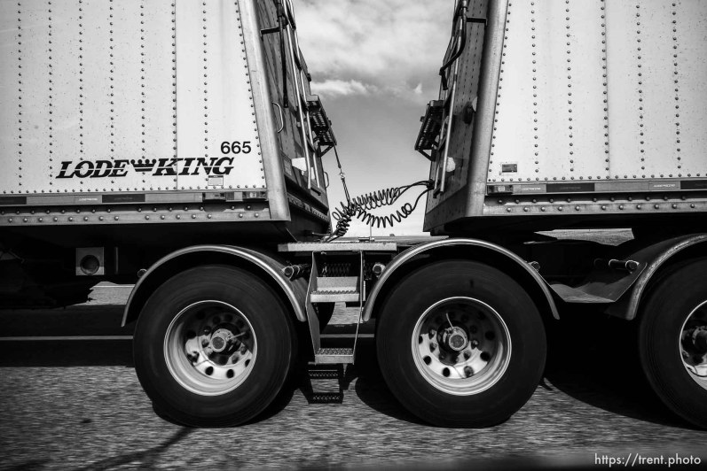 truck on the road, Wednesday June 19, 2019.