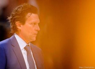(Trent Nelson | The Salt Lake Tribune) Utah Jazz head coach Quin Snyder as the Utah Jazz host the Charlotte Hornets, NBA basketball in Salt Lake City on Friday, Jan. 10, 2020.
