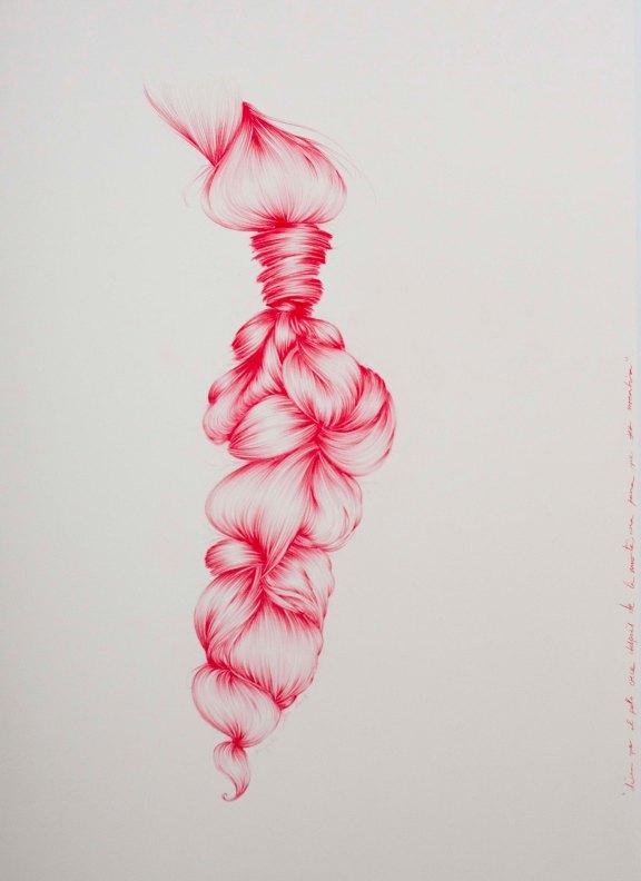 DICEN QUE EL PELO CRECE DESPUÉS DE LA MUERTE, UNA PENA QUE SEA MENTIRA / 100X70 / Grafito sobre papel