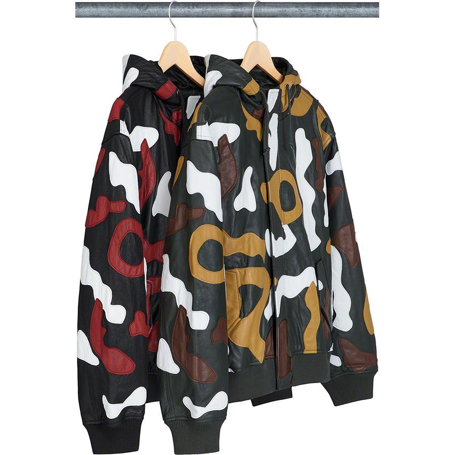 Supreme Camo Leather Jacket