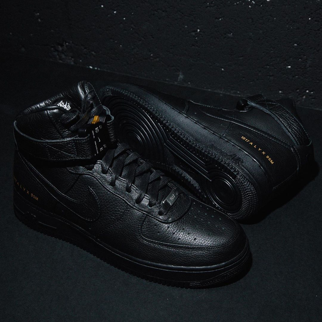 1017 Alyx 9SM x Nike Air Force 1 High Black