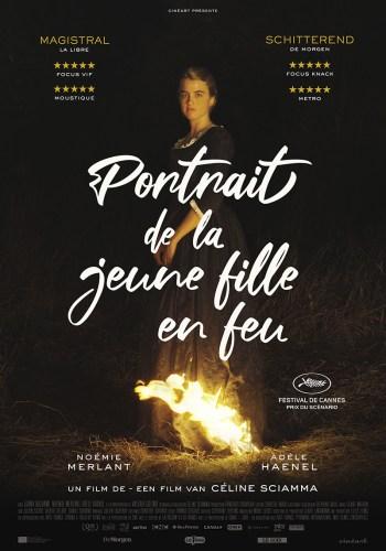 Affiche du film Portrait de la jeune fille en feu césar 2019 / 2020