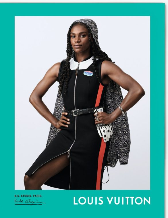 Dina Asher-Smith par Nicolas Ghesquière pour Louis Vuitton