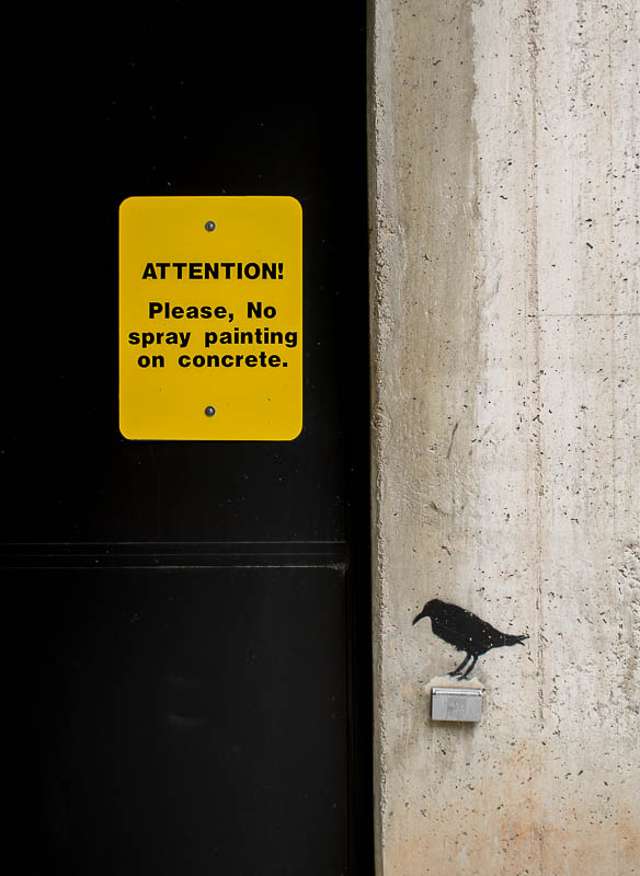 Please, no spray painting on concrete