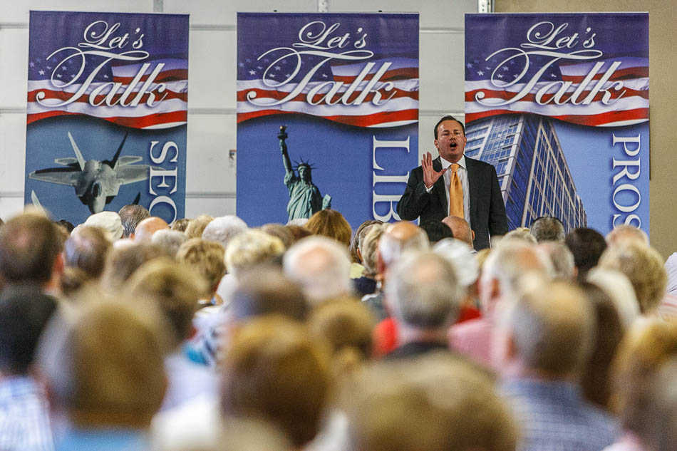 senator mike lee, town hall meeting in spanish fork