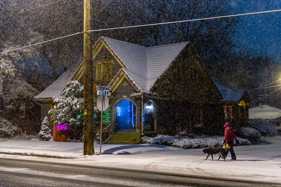 snow in sugar house, utah