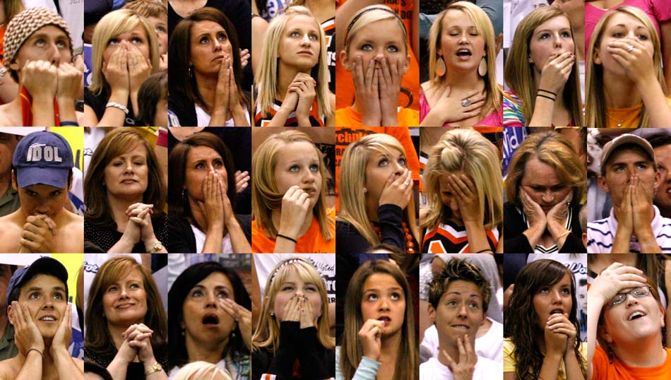 The reactions of David Archuleta fans as David Cook is announced the winner of the seventh season of American Idol during a live broadcast.