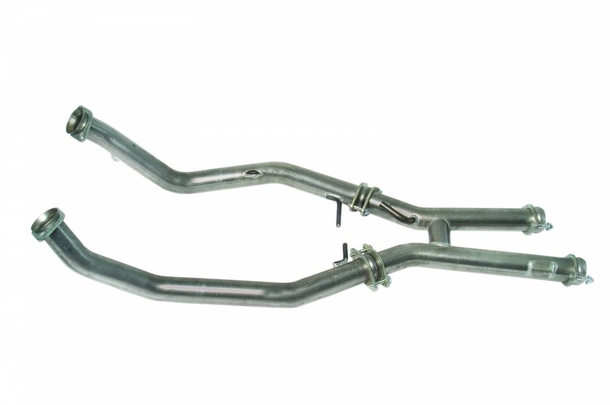 2 5 Off Road H Pipe For Shorty Stock Headers Mustang 5 0l