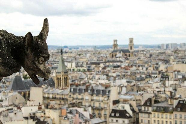 La vista da Notre-Dame de Paris