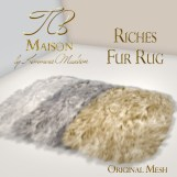 TB Maison Riches Fur Rug