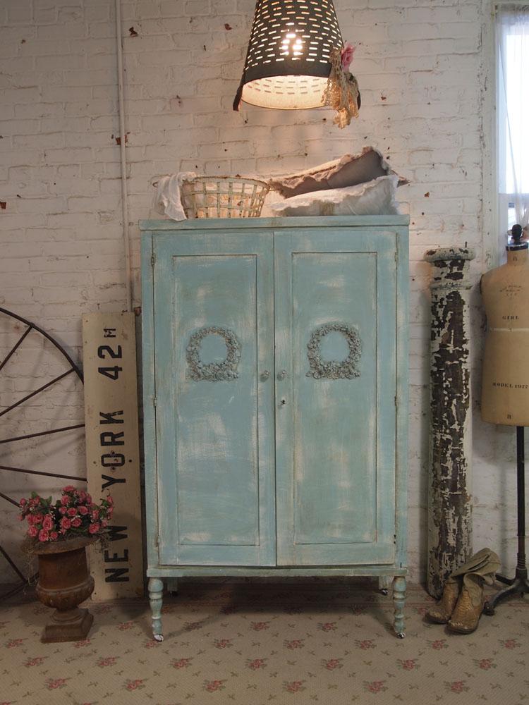 Flea Market Fix Up  Redoing an Antique Armoire  Tres