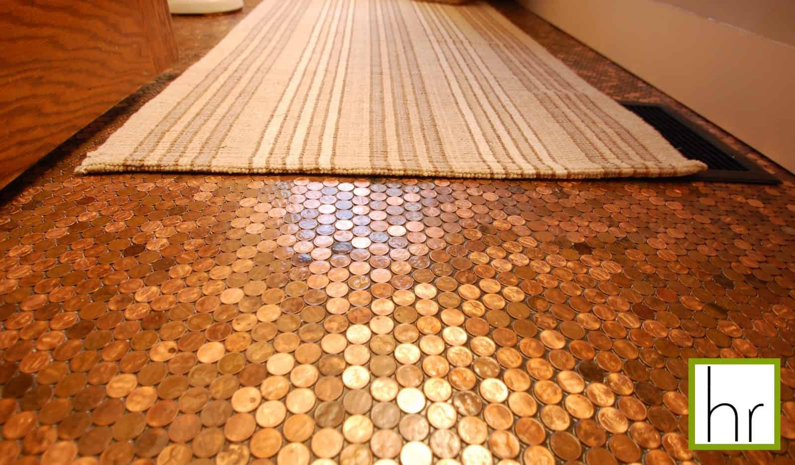 penny tiles style contemporary tile