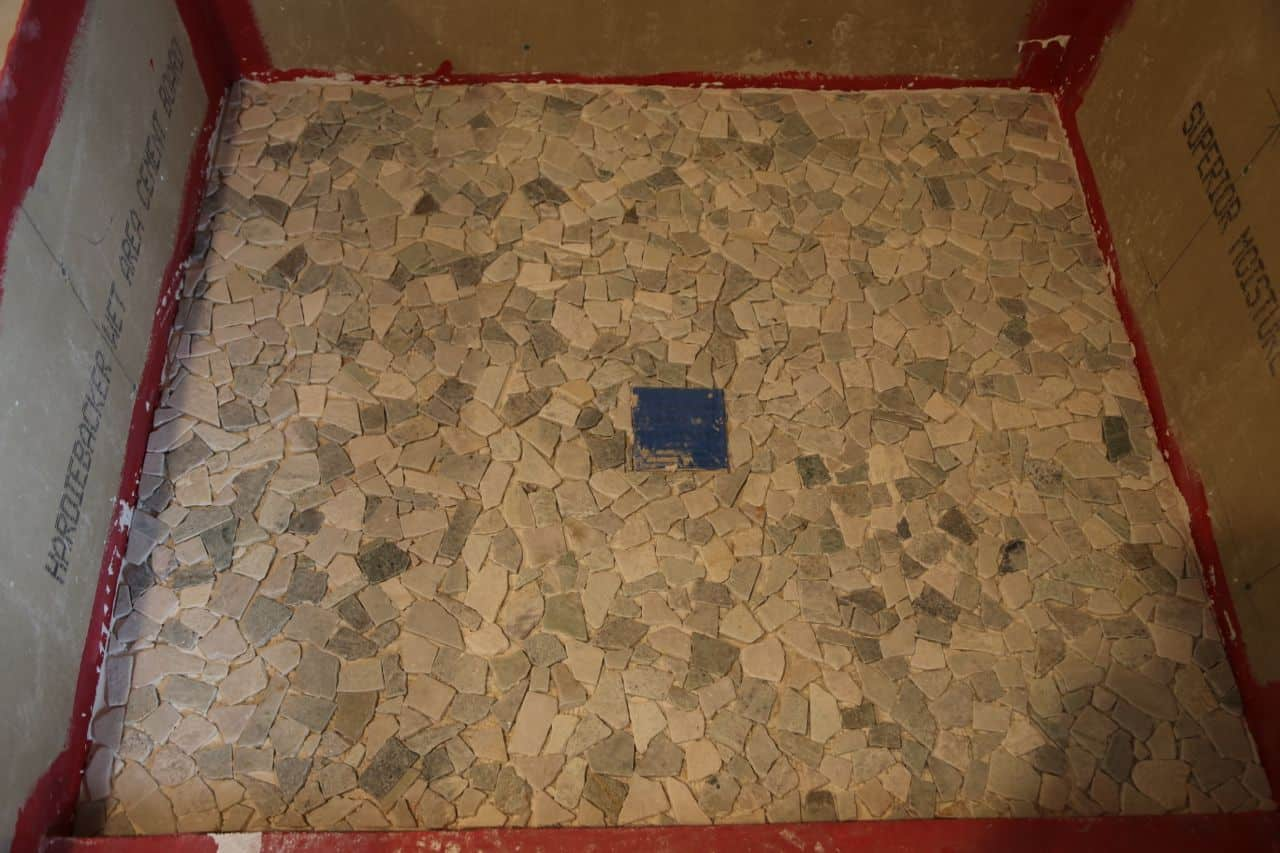 how to tile a shower floor picture