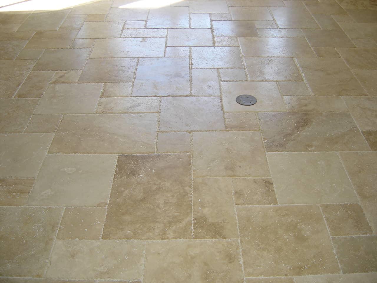 Travertine Floor Tiles Picture  Contemporary Tile Design