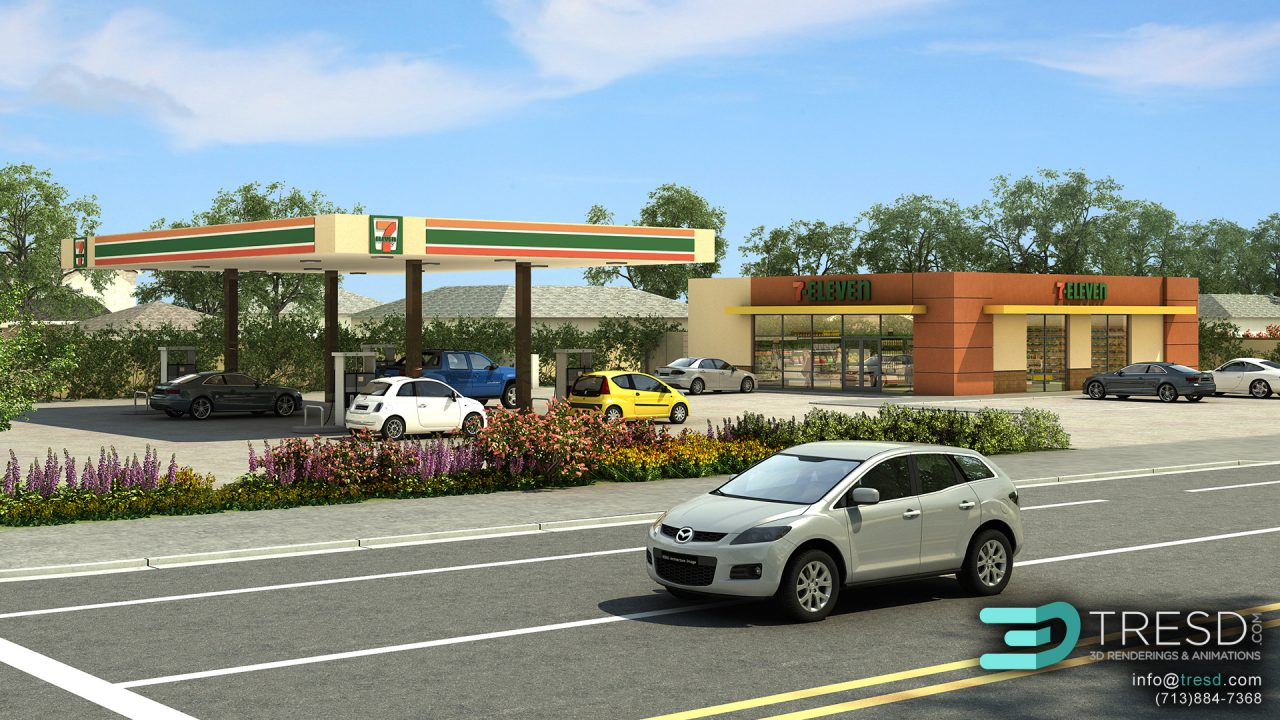 04 7 Eleven Gas Station And Convenience Store