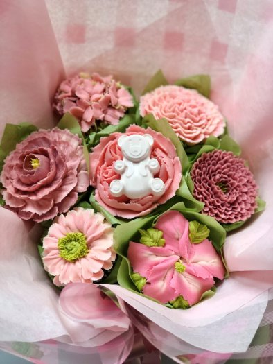 Girl Baby Shower Floral Cupcakes