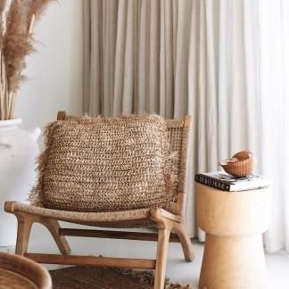 Raffia cushions