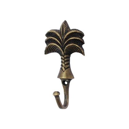 Palm tree brass large hook