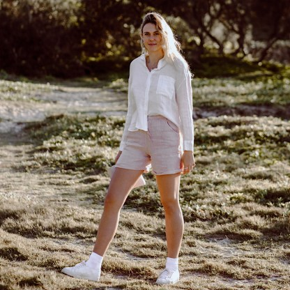 Linen shorts made in Italy