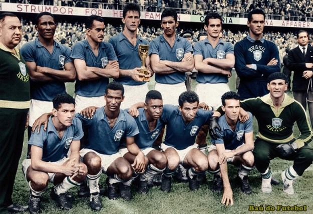 03de7f0285 Seleção Brasileira na Copa do Mundo de 1958 - Três Pontos