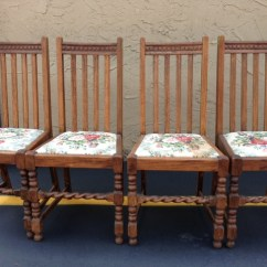 Vintage Wooden Dining Chairs Eames Molded Plywood Chair Oak Barley Twist Table