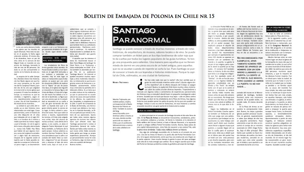 paranormalne Santiago - biuletyn nr 15