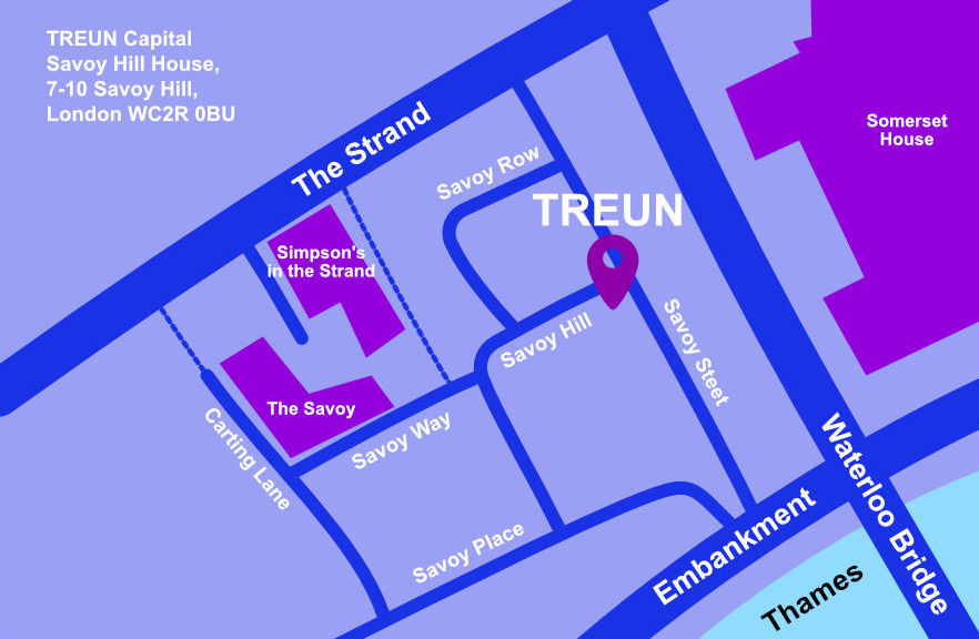 Contact Treun Office Map