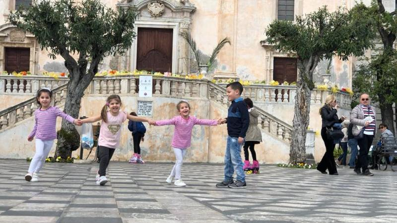 Viaggio on the road con i bambini in Sicilia: Taormina.