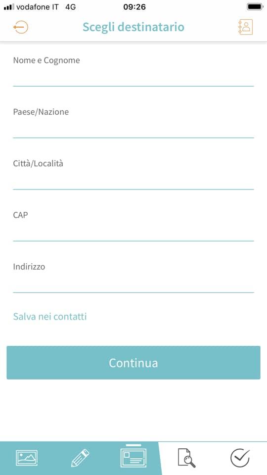 App pem-Card, app per smartphone, cartoline da spedire, trevaligie