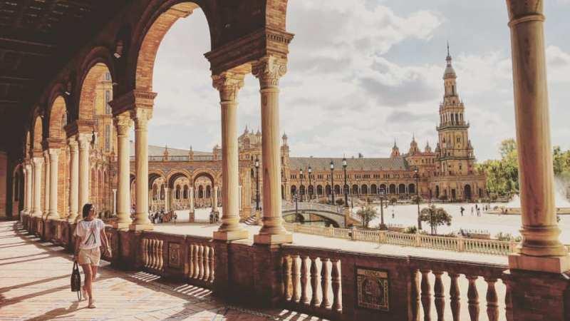 Cosa vedere a Siviglia. Plaza de Espana. Viaggio on the road nella penisola iberica.
