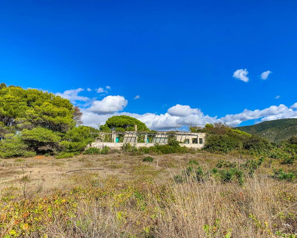 Sul lungomare di lago ;lungo è possibile scorgere, nella folta vegetazione, la vecchia villa della famiglia Visconti.