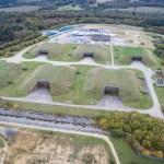 RAF Greenham Common Silo Bunker - Drone