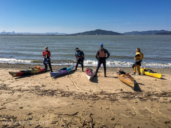 Ready to launch from Ferry Point. BASK Thursday Lunch Paddle March 30, 2017.