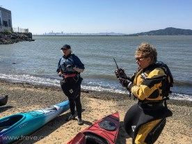 Radio check. BASK Thursday Lunch Paddle March 30, 2017.
