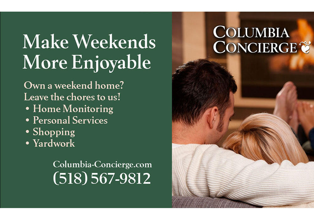 Movie slide (cinema advertising) for Columbia Concierge - designed by Trevellyan.biz, Columbia County's graphic designer